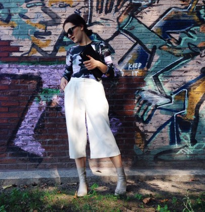 Outfit: White Culottes